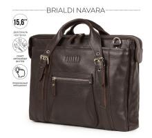Деловая сумка BRIALDI Navara (Навара) relief brown