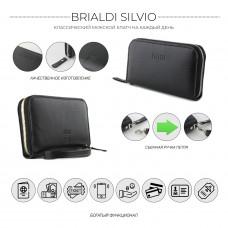 Мужской клатч BRIALDI Silvio (Сильвио) relief black в магазине Galantmaster.ru фото