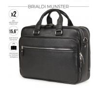 Вместительная деловая сумка BRIALDI Munster (Мюнстер) relief black BR34132UN