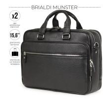 Вместительная деловая сумка BRIALDI Munster (Мюнстер) relief black