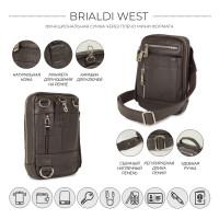 Кожаная сумка через плечо mini-формата BRIALDI West (Вест) relief brown