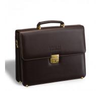 Стильный портфель классической формы BRIALDI Fleming (Флеминг) brown