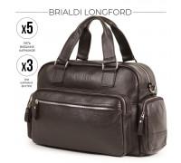 Вместительная деловая сумка BRIALDI Longford (Лонгфорд) relief brown в магазине Galantmaster.ru фото