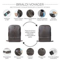 Стильный кожаный рюкзак BRIALDI Voyager (Вояджер) relief brown