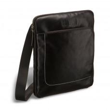 Кожаная сумка через плечо BRIALDI Carano (Карано) black в магазине Galantmaster.ru фото