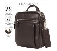 Кожаная сумка через плечо BRIALDI Faro (Фару) relief brown