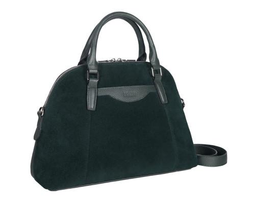 Женская деловая сумка среднего размера BRIALDI Ambra (Амбра) relief green