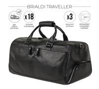 Дорожно-спортивная сумка BRIALDI Traveller (Путешественник) relief black в магазине Galantmaster.ru фото