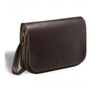 Кожаная сумка через плечо BRIALDI Cambridge (Кембридж) brown в магазине Galantmaster.ru фото
