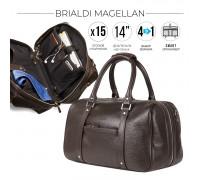 Дорожно-спортивная сумка трансформер BRIALDI Magellan (Магеллан) relief brown