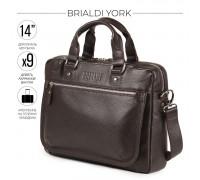 Деловая сумка BRIALDI York (Йорк) relief brown