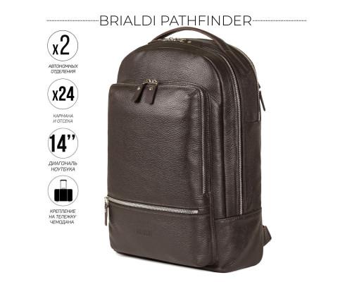 Мужской рюкзак BRIALDI Pathfinder (Следопыт) relief brown