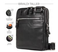 Вертикальная сумка через плечо BRIALDI Taller (Таллер) relief black в магазине Galantmaster.ru фото