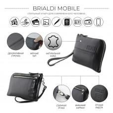 Мужской клатч BRIALDI Mobile (Мобил) black в магазине Galantmaster.ru фото