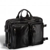 Мужская сумка-трансформер BRIALDI Norman (Норман) shiny black