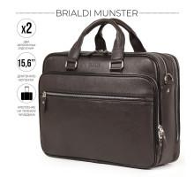 Вместительная деловая сумка BRIALDI Munster (Мюнстер) relief brown