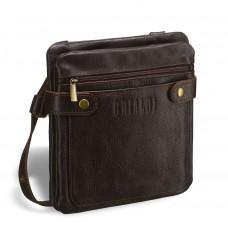 Кожаная сумка через плечо BRIALDI Newport (Ньюпорт) brown в магазине Galantmaster.ru фото