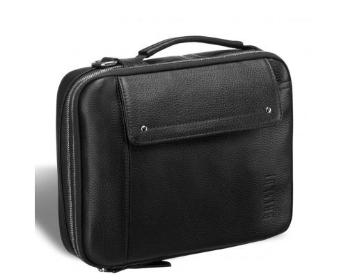 Оригинальная сумка через плечо mini-формата BRIALDI Montone (Монтоне) relief black