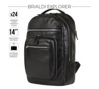 Деловой рюкзак BRIALDI Explorer (Эксплорер) relief black BR37170AM