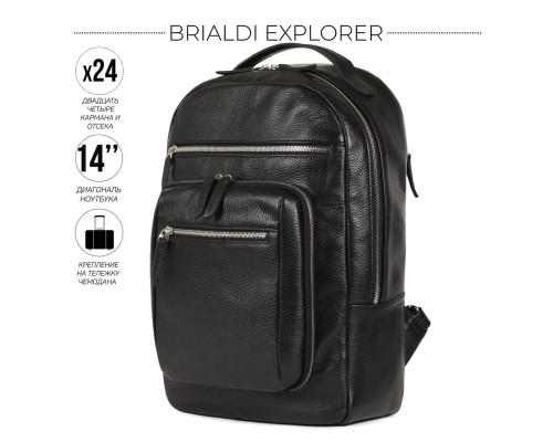 Деловой рюкзак BRIALDI Explorer (Эксплорер) relief black