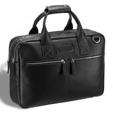 Удобная деловая сумка для документов BRIALDI Glendale (Глендейл) relief black в магазине Galantmaster.ru фото