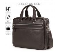 Деловая сумка BRIALDI Oxford (Оксфорд) relief brown