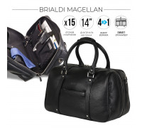 Дорожно-спортивная сумка трансформер BRIALDI Magellan (Магеллан) relief black
