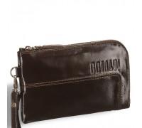 Мужской клатч BRIALDI Mobile (Мобил) shiny brown в магазине Galantmaster.ru фото
