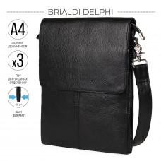 Вертикальная сумка через плечо BRIALDI Delphi (Делфи) relief black