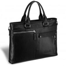 Деловая сумка Slim-формата для документов BRIALDI Bresso (Брессо) relief black в магазине Galantmaster.ru фото