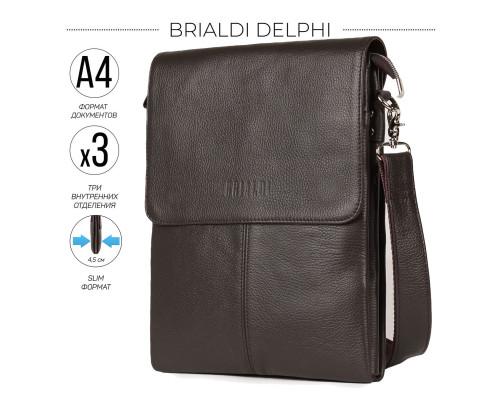 Вертикальная сумка через плечо BRIALDI Delphi (Делфи) relief brown