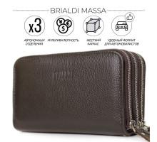 Клатч BRIALDI Massa (Масса) relief brown
