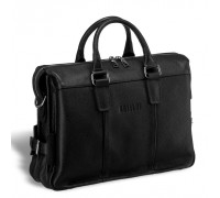 Мужская сумка для документов BRIALDI Bard (Бард) relief black