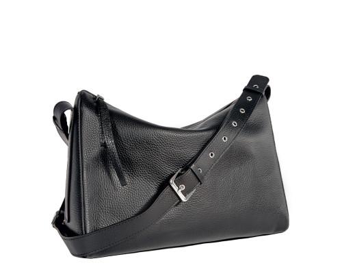 Вместительная женская сумка BRIALDI Fiona (Фиона) relief black