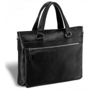 Деловая сумка для документов BRIALDI Bosco (Боско) relief black в магазине Galantmaster.ru фото