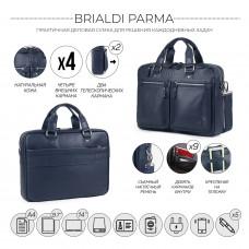 Деловая сумка для документов BRIALDI Parma (Парма) relief navy в магазине Galantmaster.ru фото