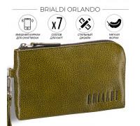 Мужской клатч BRIALDI Orlando (Орландо) relief mustard