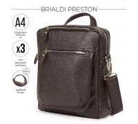 Кожаная сумка через плечо BRIALDI Preston (Престон) relief brown