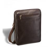 Кожаная сумка через плечо BRIALDI Thoreau (Торо) relief brown в магазине Galantmaster.ru фото