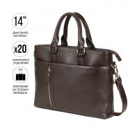 Функциональная мужская деловая сумка BRIALDI Virginia (Вирджиния) relief brown BR44559MD