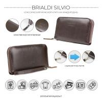 Мужской клатч BRIALDI Silvio (Сильвио) relief brown