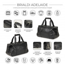 Спортивная сумка малого формата BRIALDI Adelaide (Аделаида) relief black в магазине Galantmaster.ru фото