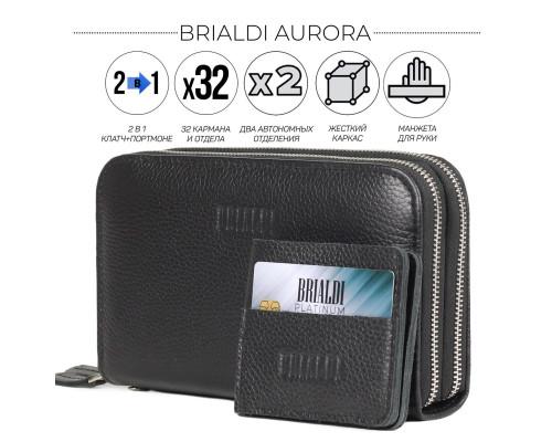 Мультиклатч с двумя отделениями 2-В-1 BRIALDI Aurora (Аврора) relief black
