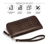 Мужской клатч BRIALDI Silvio (Сильвио) croco brown BR19840GD