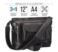Универсальная сумка BRIALDI Fullerton (Фуллертон) relief black в магазине Galantmaster.ru фото