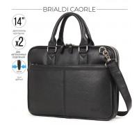 Деловая сумка BRIALDI Caorle (Каорле) relief black