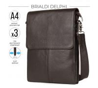 Вертикальная сумка через плечо BRIALDI Delphi (Делфи) relief brown в магазине Galantmaster.ru фото