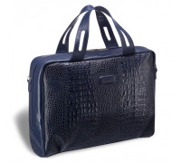 Женская деловая сумка BRIALDI Elche (Эльче) croco navy в магазине Galantmaster.ru фото